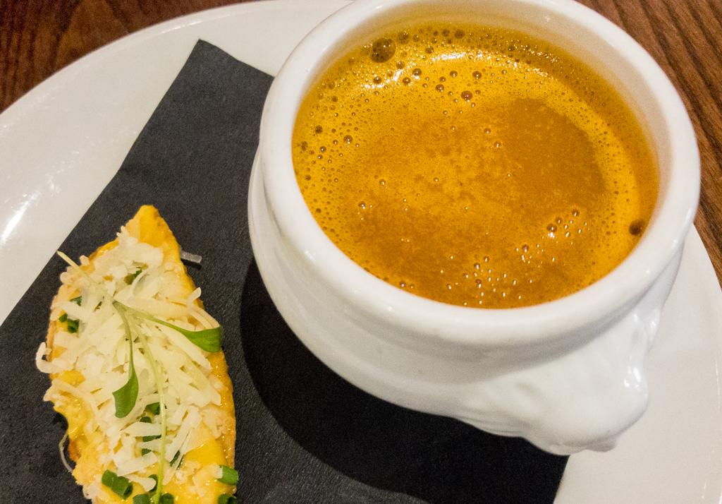 Soupe de passion, rouille & gruyere cheese