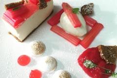 Vanilla & yorkshire rhubarb cheesecake